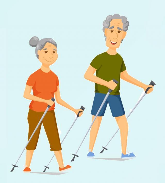 seniorzy, dziadkowie, odpoczynek, sport