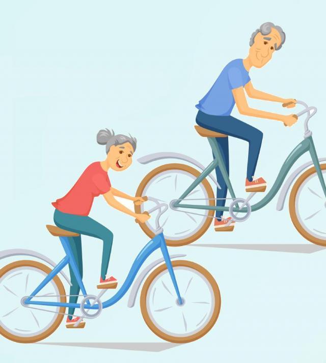 dziadkowie, odpoczynek, sport, seniorzy