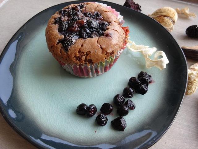 Przepis na czekoladowe muffinki z jagodami
