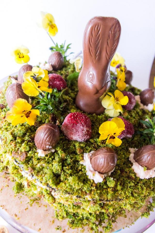 Wielkanocny leśny mech – ciasto ze szpinakiem