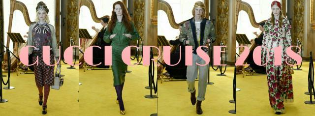 Gucci Cruise 2018 - Dziewczyna w czarnym kapeluszu