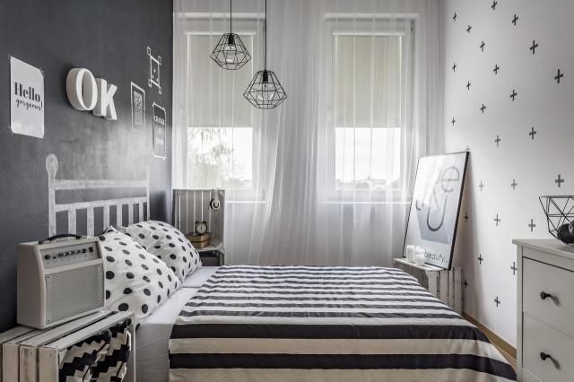 wnętrza, sypialnia