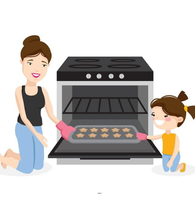 dziecko, szczęście, wspólne gotowanie, gotowanie
