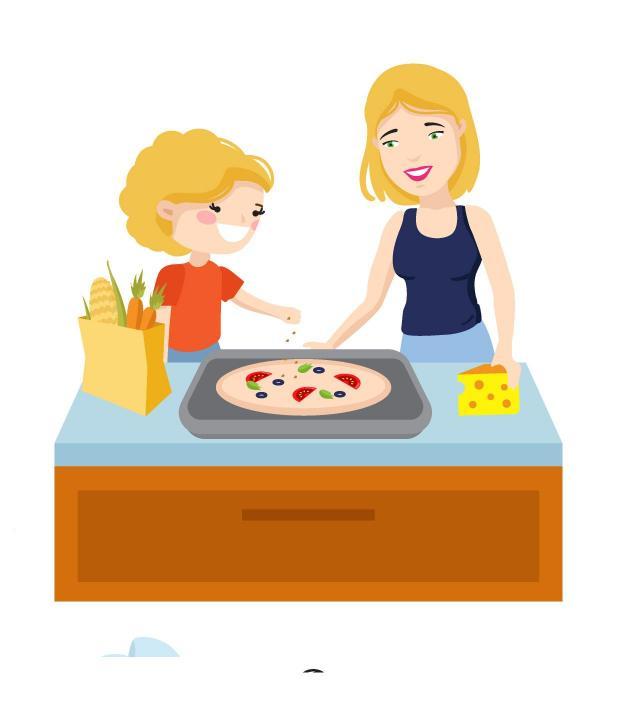 wspólne gotowanie, gotowanie, dziecko, szczęście