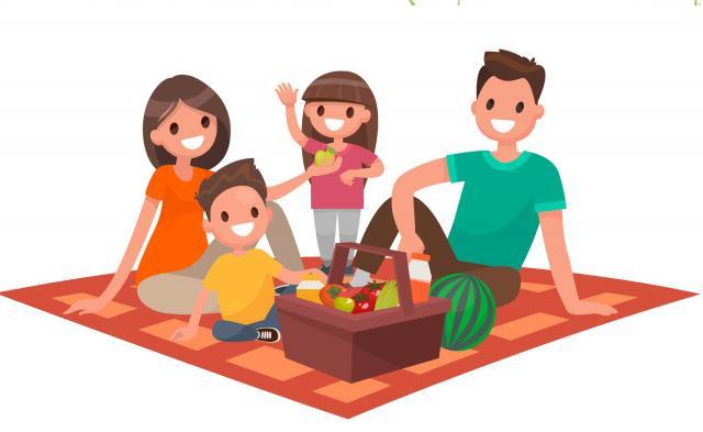 szczęśliwa rodzina, duża rodzina