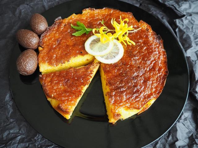 Ciasto cytrynowe z kremem z ciasteczek speculoos