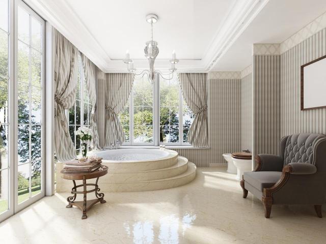 Piękne i przestrzenne łazienki, które wyglądają cudownie