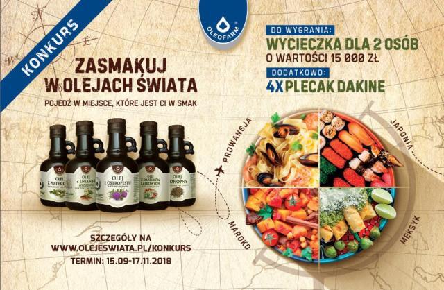 Zasmakuj w Olejach Świata i pojedź w miejsce, które jest ci w smak!