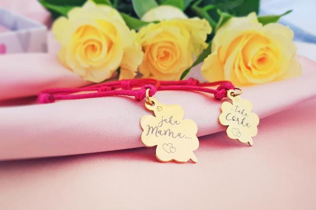 """""""Jaka mama....taka córka!"""" - bransoletka dla mamy i córki"""