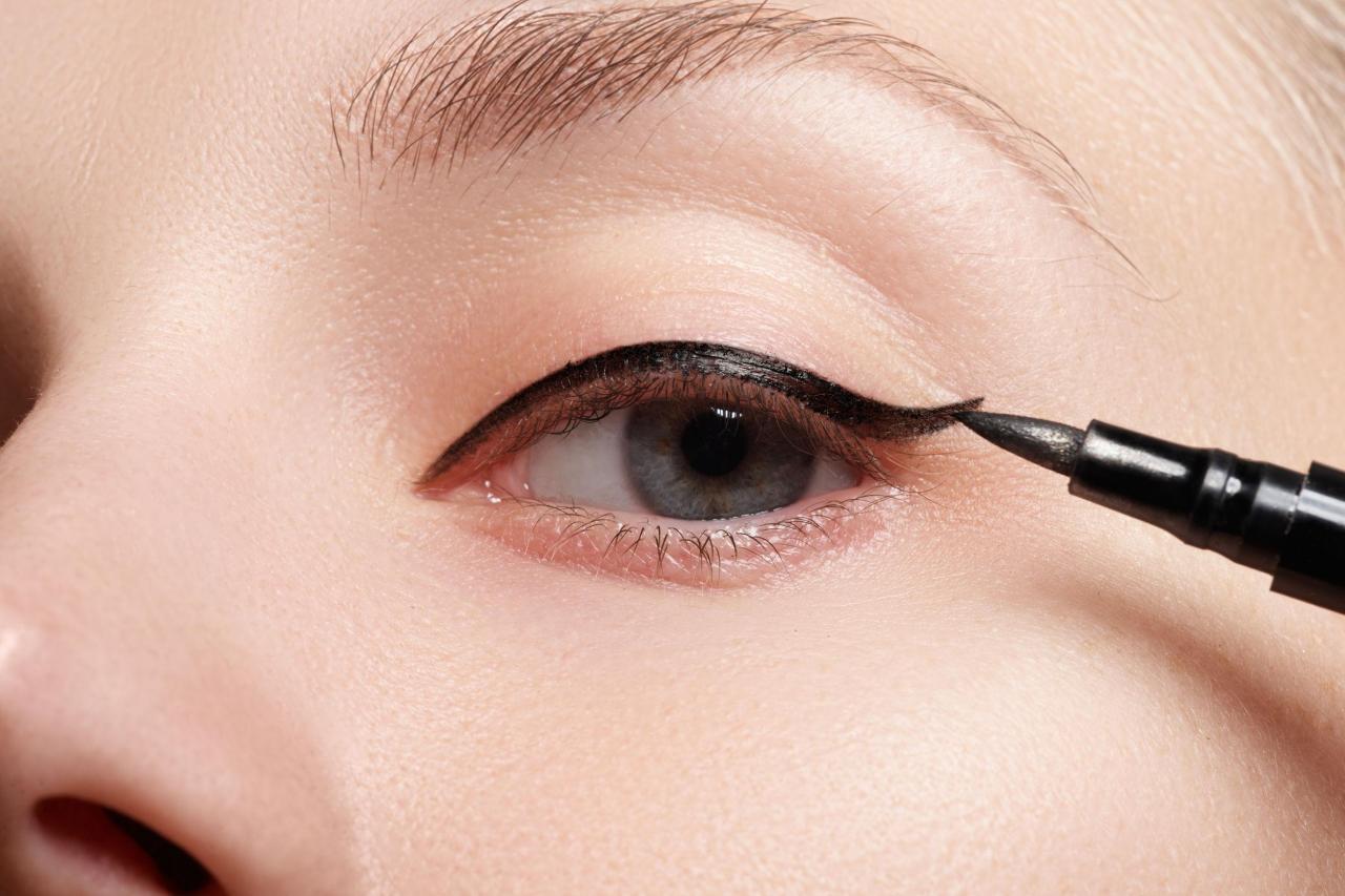 Как сделать идеальные стрелки на глазах фото