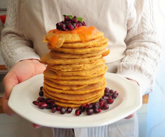Dyniowo-jabłkowe pancake