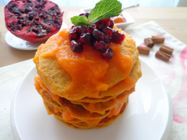 jabłka, pancakes, śniadanie, blog, dynia